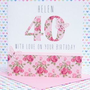 Beautiful Personalised Handmade Birthday Card,12th,13th,14th,15th,16th,18th,21st,30th,40th