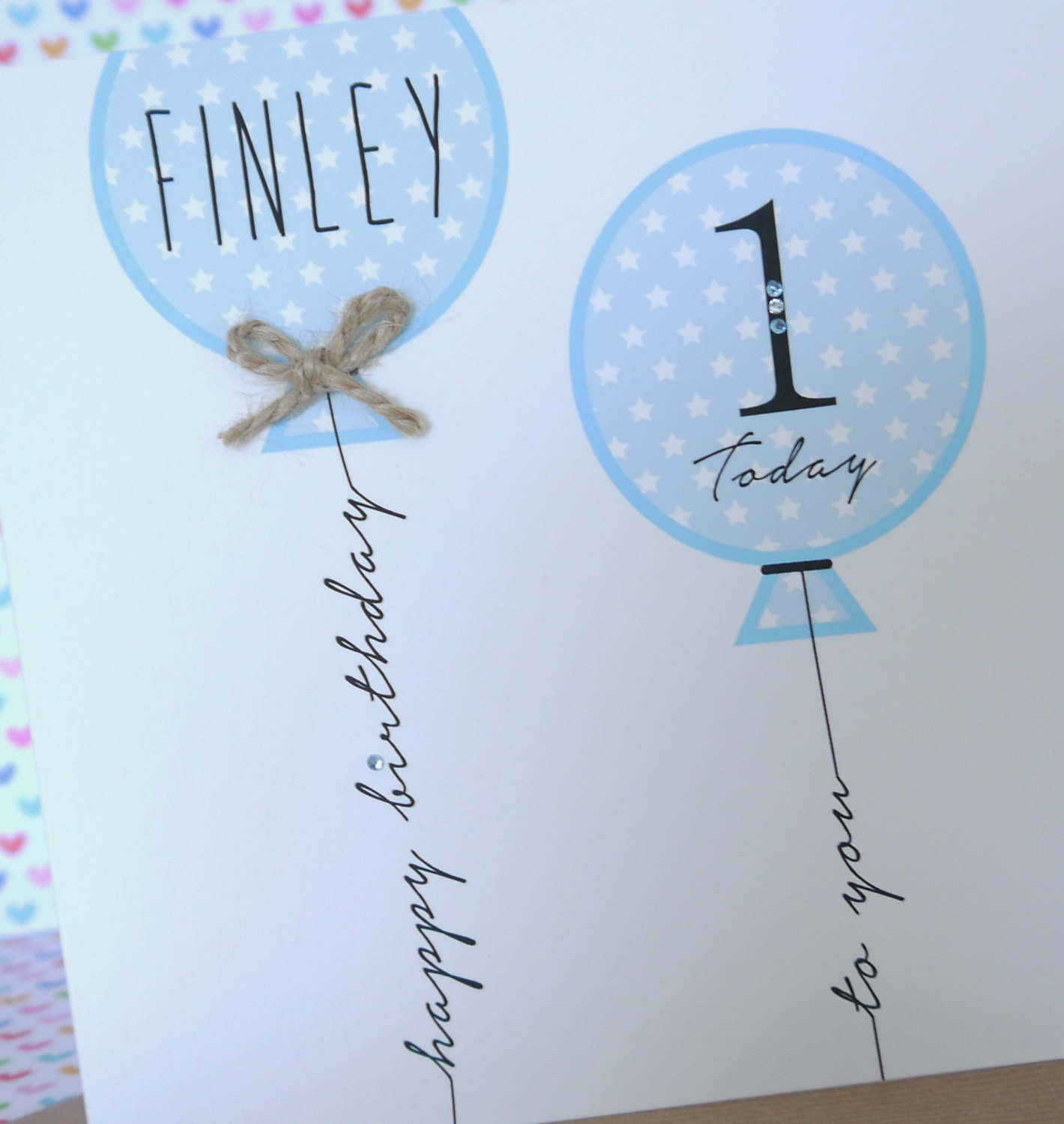 Beautiful Personalised Handmade Boy Birthday Card 1st2nd3rd4th