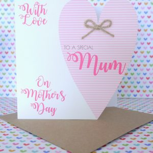 Beautiful Personalised Handmade Mother's Day Card