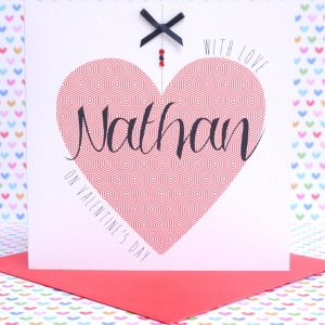 Beautiful Personalised Handmade Valentine's Day Card