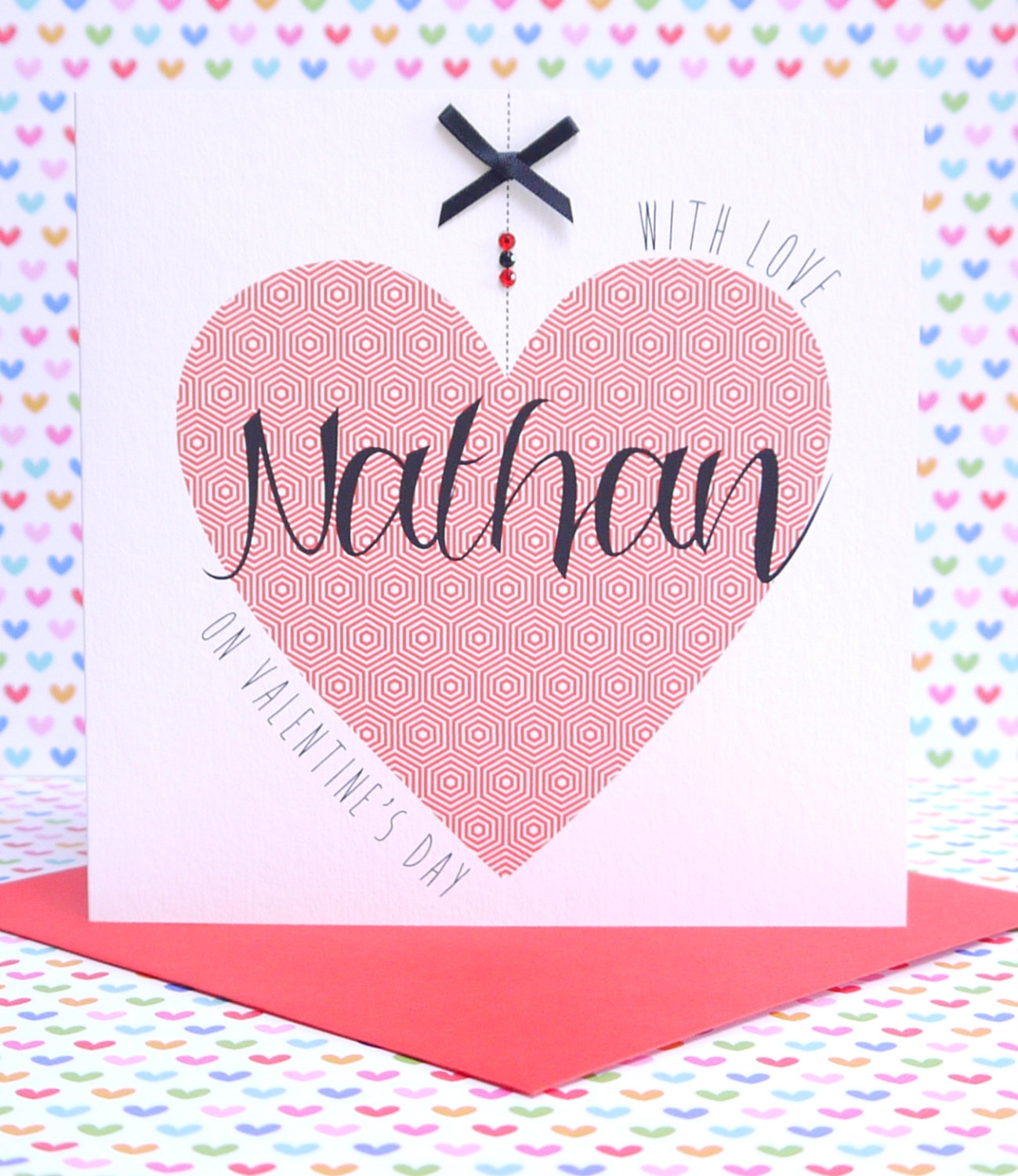 Beautiful Personalised Handmade Valentines Day Card Creative
