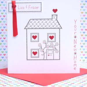 Lovely Personalised Handmade New Home Card