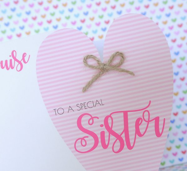 Personalised Handmade Birthday Card Friend, Sister, Mum, Nanny, Auntie, Daughter