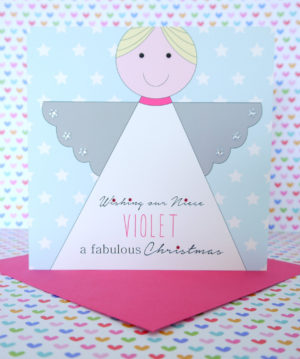 Personalised Handmade Christmas Card,Daughter,Granddaughter,Niece,Goddaughter