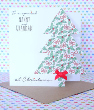 Personalised Handmade Christmas Card,Mum & Dad,Grandparents,Friends,Daughter,Son