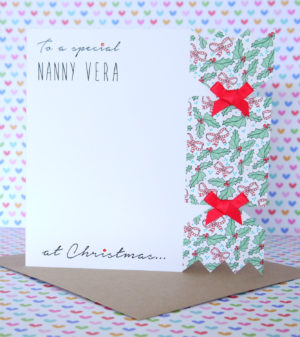 Personalised Handmade Christmas Card,Mum & Dad,Nanny, Auntie,Friends,Daughter