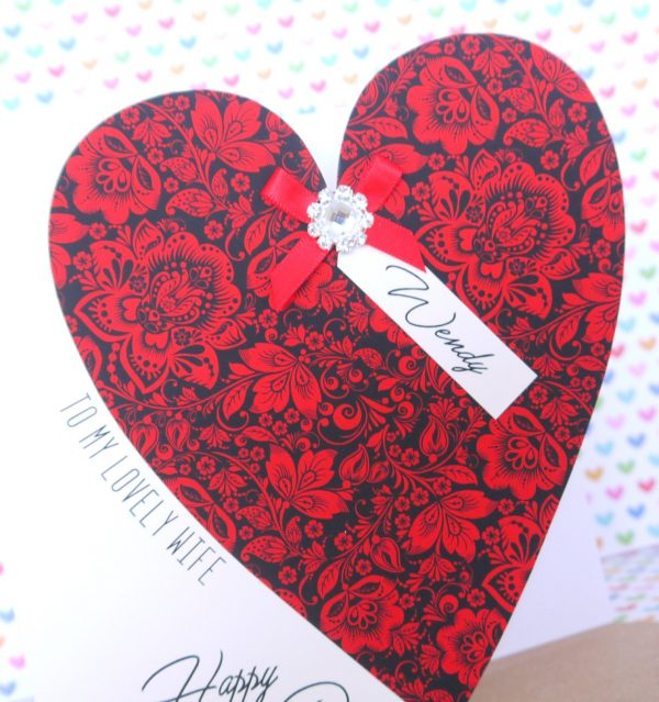 Personalised Handmade Valentine's Day Card, Husband, Wife, Girlfriend, Boyfriend